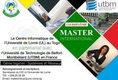 Master international en informatique UTBM:Appel à candidature
